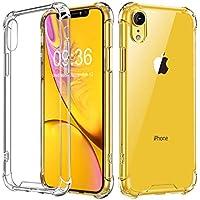 "Vproof Funda iPhone XR, Transparente Carcasa iPhone XR Absorcion de Choque Cojín de Esquina Parachoques con PC Duro Panel Posterior + Marco Reforzado de TPU Suave Compatible para iPhone XR 6.1"" 2018"