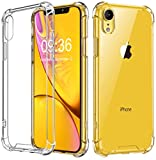 Vproof iPhone XR Hülle [Crystal Clear] iPhone Case Stoßfeste Ecke Kissens Bumper mit Harten...