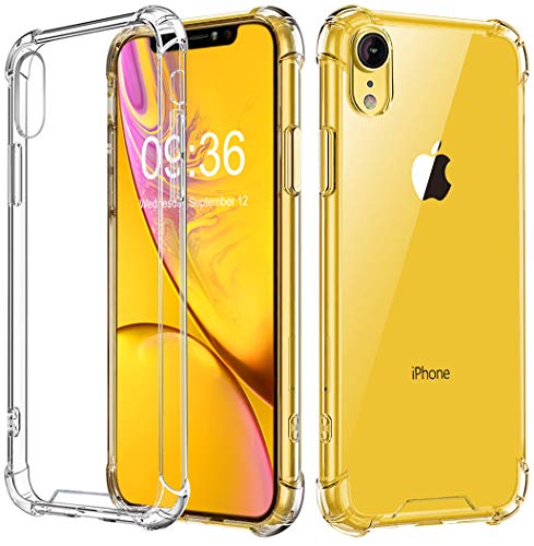 """Babacom Funda para iPhone XR, Transparente Carcasa para iPhone XR Absorcion de Choque Cojín de Esquina Parachoques con PC Duro Panel Posterior + Marco Reforzado de TPU Suave para iPhone XR 6.1\"""" 2018"""