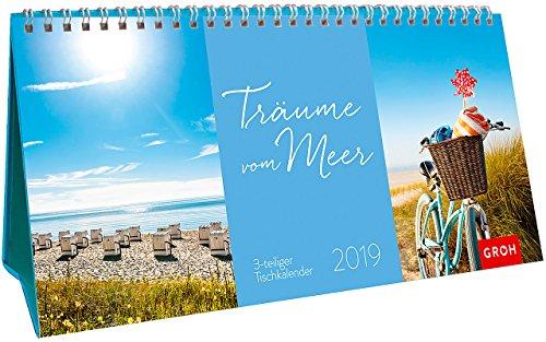 Träume vom Meer 2019: 3-teiliger Tischkalender mit Monatskalendarium (Mutter Natur Kalender)