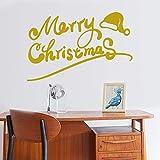 LWY HOME Weihnachtsalphabet Weihnachtsbaum Mode Kreative Entfernbare Wandaufkleber Schneeflocke
