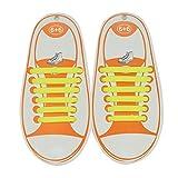 Kootk Silicone Lacci per Scarpe Elastici Bambini Shoelaces, Accessori per Scarpe Sportive, 12 Pezzi Impermeabile No Tie Lacci Elastici per Casual, Sportive, Corridori, Sneaker Boots Piatto Laces