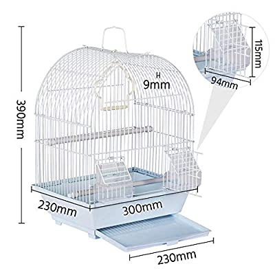 Yaheetech Portable 15.4'' Bird Cage For Budgie Canaries Lovebird Cockatiel Small Parrots Travel Cage from Yaheetech