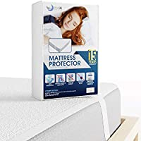 Mattress Protector Single 90 x 190cm Waterproof with 4 Elastic Corners - 90x190-size Waterproof Draw Sheet  - Breathable Cotton Mattress Cover - Protective Sheet - Mattress Protectors