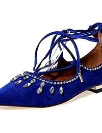 PDX/de zapatos de mujer Velvet talón plano Mary/Pointed Toe Flats fiesta y tarde/vestido/casual negro…