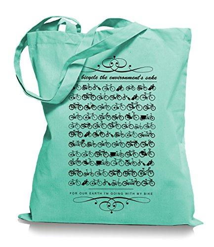Ma2ca® Kult Bikes Stoffbeutel Einkaufstasche Tasche Tragetasche / Bag WM101 Mint