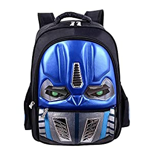 JIANGUO Mochila para Niños Transformers Mochila Escolar Ligera Y Resistente Al Agua 3D Resistente Al Desgaste De Gran Capacidad para Niños Y Niñas A-S