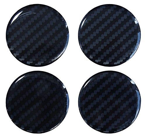 Nabenkappen 3D - 910032 Carbon Schwarz - Felgendeckel Radnabendeckel 50 mm - Hightech-Folie mit sichtbarer Struktur