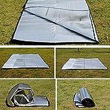 Lorenlli Doppelseitige faltbare wasserdichte Aluminiumfolie Matte Outdoor Travel Strandmatte Schlafmatratze für Camping Wandern
