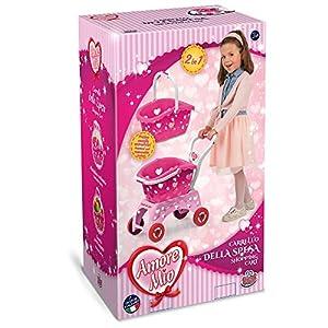 Grandi Giochi GG71065 - Carro de la Compra Amore Mio, Color Rosa