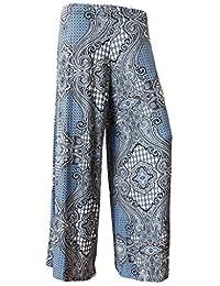 83c5568c57ef Dames femmes Multicolor Leopard imprimé aztèque droite Flared Wide Leg  Palazzo Floral Pantalons Pantalons Plus Size