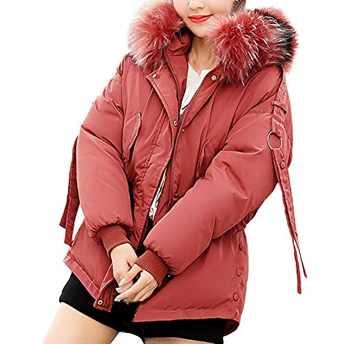 TWBB Damen Daunenjacke Winterjacke,Plus Size Wintermantel Frauen Daunenmantel Winter Warm Dicker Mantel Parka Jacke Outwear Oberbekleidung Trenchcoat mit Pelzkragen