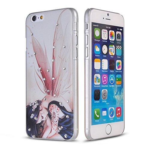 UKDANDANWEI Apple iPhone 6 Plus Hülle Case - Bling Strass Ultra Dünn Hart PC Hülle Glitzer Rückseite Slim Etui Schale für Apple iPhone 6 Plus -27 Bling-28