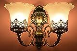 SFL Antique Design Brass 2 Portuguese Style Bronze Double Wall Lamp/ Wall Hanging-25cm x 25cm x 30cm