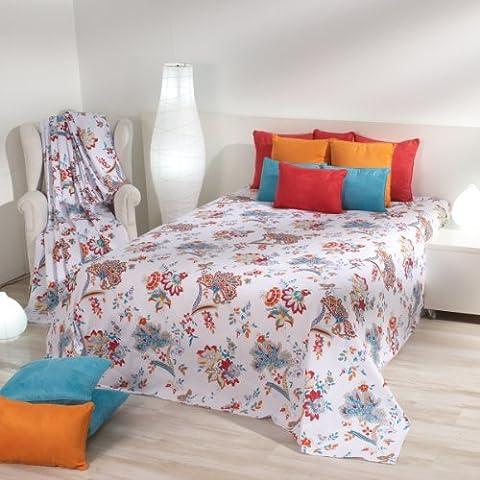 Sancarlos - FOULARD MULTIUSOS VICTORIO & LUCCHINO PROVENZAL - Para sofá y cama - 100% Algodón