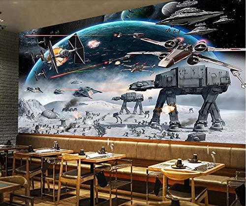 Wemall Tapete 3d großformatige Fototapete Schock Star Wars KTV Internetcafé Thema Werkzeug Tapete, 430x300 cm (Star Wars Bar-thema)