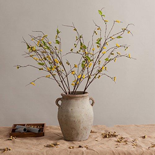 Antike machen alte grob einige keramik dosen Ländliche pastorale hand-getrocknete blume dekoration ornamente-L ()