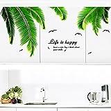 Palme Blätter Wandaufkleber Vinyl DIY Palmwedel Muursticker für Wohnzimmer Küche Dekoration Wandtattoos