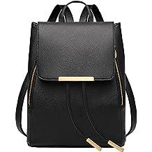 sfpong - Bolso mochila para mujer negro negro large