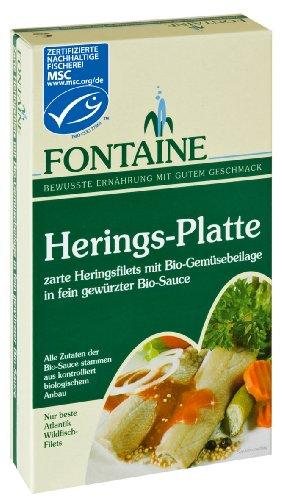 Fontaine Herings-Platte 200g Fischkonserve, 3er Pack (3 x 200 g) -