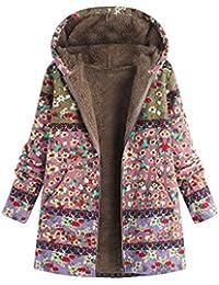 Manteau Ethnique Grande Taille Femme Boheme Hippie Chic Blouson Chaud Hiver  Fille Gilet Manche Longue Veste 51e53d9e0f55