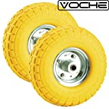 Voche® 2 X 10' Puncture Burst Proof Solid Rubber Sack Truck Trolley Wheels Spare Tyres
