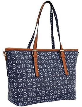 #810 GOGO Handtasche Damentasche Tasche Henkeltasche Beige
