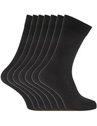 Soho Collection Herren Socken, schwarz, 7 Paar