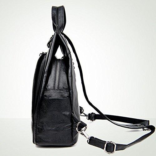 Einfach Frauen Rucksack Freizeit Multifunktions- Daypacks Multicolor Blue