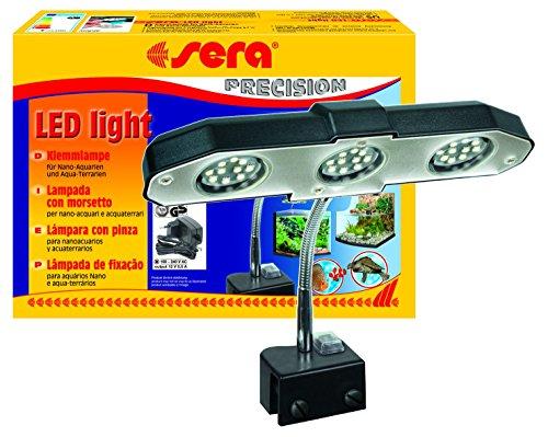 sera 31138 LED light 3x 2W eine LED-Lampe (6W/12V) mit breitem Reflektor zur Beleuchtung von kleineren Aquarien und Terrarien