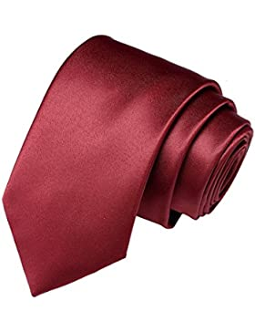 Harrms Corbata de hombre, color liso, clásico y colores múltiples, perfecto para Boda/Fiesta / Ceremonia