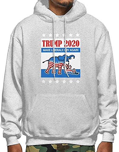 SKDJFBUD Trump 2020 Make Liberals Cry Again Men\'s Polyester Hoodie Pocket Sweater Jackets Gr. S, 122