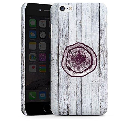 Apple iPhone X Silikon Hülle Case Schutzhülle Stamm Holz Look Baumstamm Premium Case matt