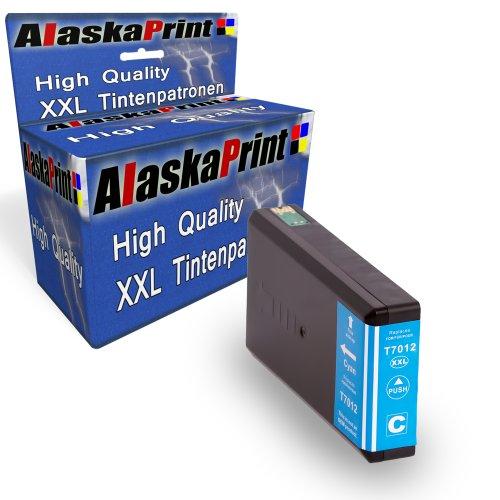 Preisvergleich Produktbild Druckerpatrone Kompatibel für Epson T7022 T7012 T7032 XL Blau Cyan für Epson WorkForce PRO WP4015 WP4025 WP4095 WP4515 WP4525 WP4535 WP4545 WP4595 WP 4015 WP 4025 WP 4095 WP 4515 WP 4525 WP 4535 WP 4545 WP 4595 Epson Workforce Pro WP-4000 WP-4015DN WP-4095DN WP-4500 WP-4515DN WP-4525DNF WP-4595DNF WP-4025DW WP-4535DWF WP-4545DTWF mit Chip 1xT7012C