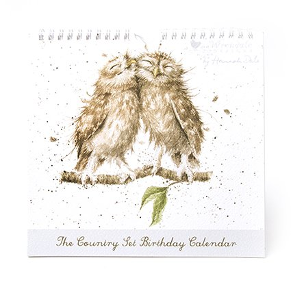 The Country Set Calendrier d'anniversaire – Motif chouettes