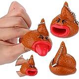 Gaddrt Poo Emoticon émoticônes jouet porte-clés Pop out langues nouveauté Fun petite farce Tricky, 1pc