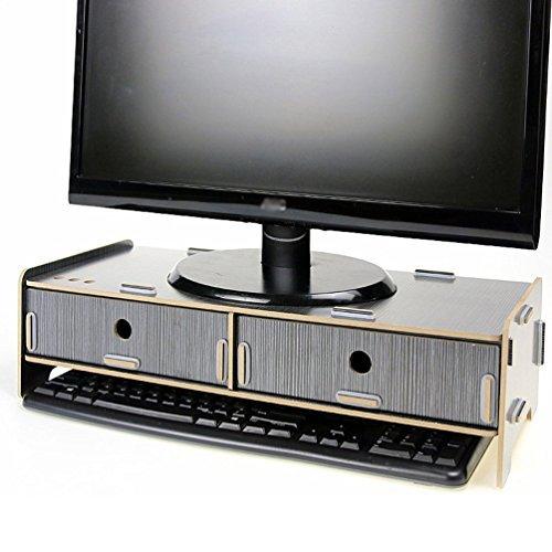 Menu Life Support TV écran Ordinateur Moniteur de bureau universel support pour optimiser Station d'accueil en bois surélevée Support pour iMac PC Notebook ordinateur portable écran de douche 19.5\