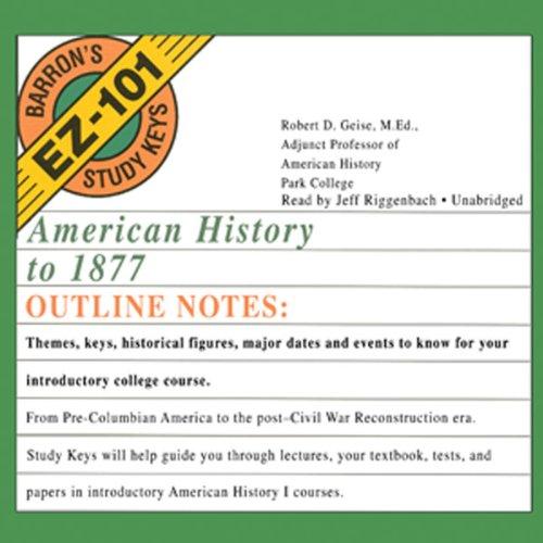 American History to 1877  Audiolibri