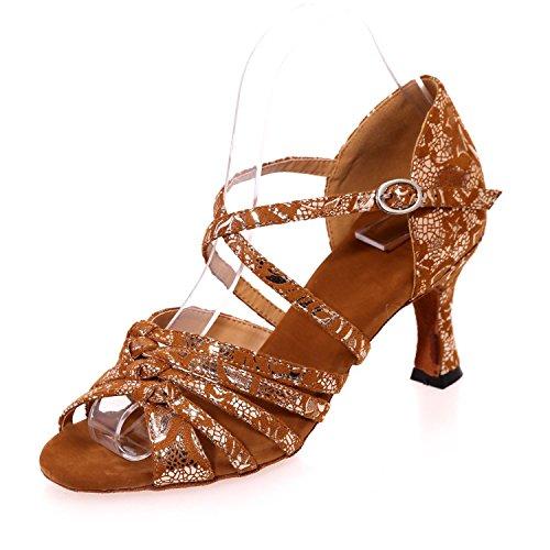 L@YC Scarpe Da Ballo Femminile / PU In Latino Con L'Inarcamento Dell'Interno Di 7.5CM / Sandali / Multi-Custom Custom Brown
