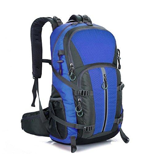 LF&F Backpack 40-50L KapazitäT Bergsteigen GepäCk Tasche Outdoor Wandern Unisex Rucksack Laptop Tasche Student Tasche Geeignet FüR Urlaub Reiten Schwimmen Fitness B