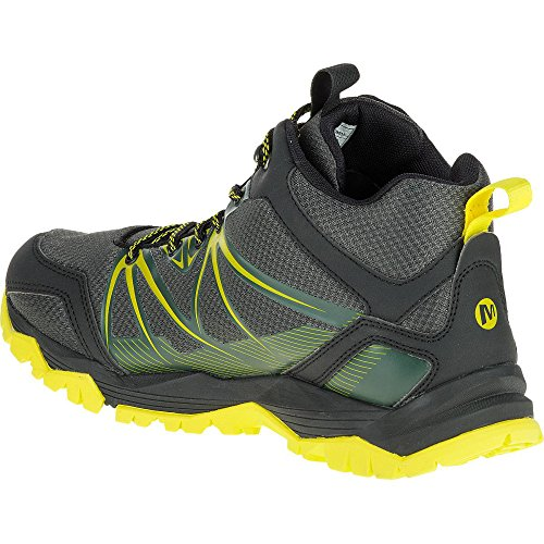 Merrell Capra Rise Mid Waterproof Trail Hiking Stivali Green