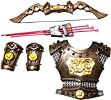 #1: HALO NATION® Bahubali Warrior Set - Knights Fancy Dress Kids Cosplay - Bow Archery, Chest Armour & Wrist Armour