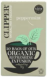 Clipper Organic Infusion Peppermint 20 Tea Bags (Pack of 6)