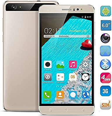 hyrich® Desbloqueado 6pulgadas Android 5.1teléfono móvil GSM 3G Smartphone Dual SIM 1G RAM rápido 8GB ROM