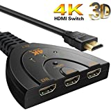 HDMI Switch 4K 3 Port Splitter Pigtail Cable Supports Full HD 4K 1080p 3D Player