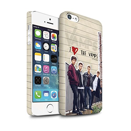 Offiziell The Vamps Hülle / Matte Snap-On Case für Apple iPhone 5/5S / Pack 5pcs Muster / The Vamps Geheimes Tagebuch Kollektion Band