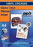 PPD Inkjet selbstklebende Vinyl-Folie, glänzend, DIN A4, 20 Blatt