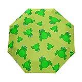 BENNIGIRY Rana automática 3Plegable sombrilla Sol protección Anti-UV Paraguas para Mujeres