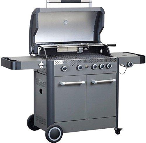 Primaster Gasgrill Boston 450 4 Brenner mit Seitenkocher Wagengrill Grillstation