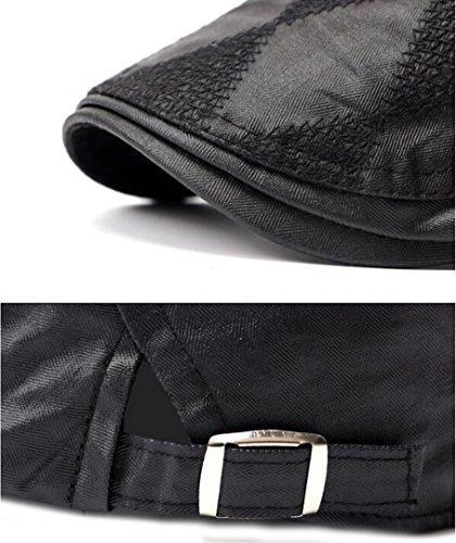 Nanxson(TM) Béret/Casquette Plate En Coton Couleur Foncée À La Mode Pour Hommes MZM0041 Noir